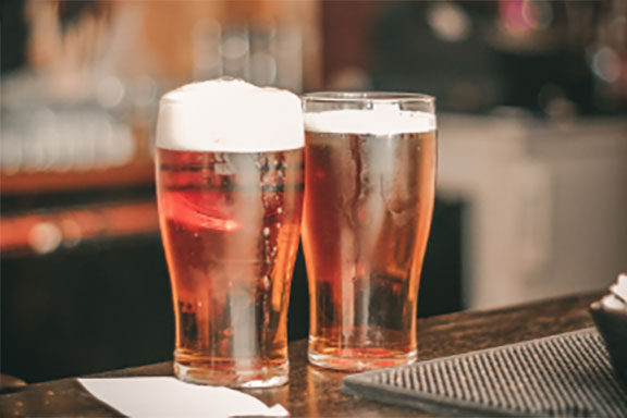 Glasses of beer